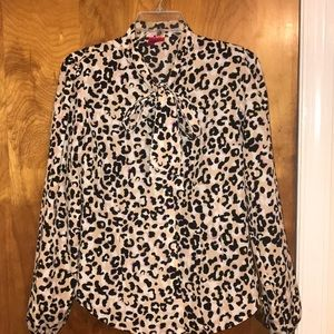 F21 Exclusive |  Leopard print bow tie blouse